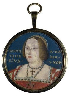 Catherine of Aragon Catherine of Aragon    This miniature shows Catherine at the age of about 40 after many unsuccessful pregnancies.It was painted from life for the king's personal collection by court painter Lucas Horenbout, circa 1525.