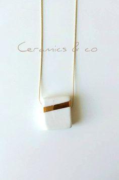 Colgante de porcelana Lustre cerámica por Ceramicsandco en Etsy