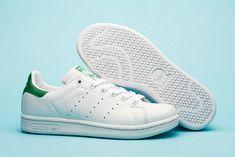 Adidas Stan Smith Women Shoes White-Green
