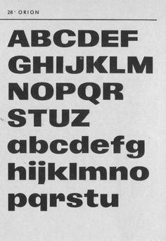 Orion by Stanislav Maršo Grafotechna type specimen