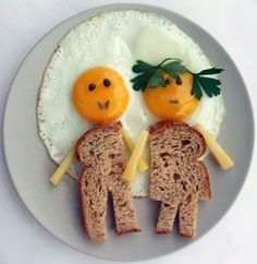 """serve a """"couple"""" of eggs to your honey for Valentine's breakfast. Who comes up with this stuff Cute Food, Good Food, Yummy Food, Baby Food Recipes, Cooking Recipes, Healthy Recipes, Healthy Food, Party Recipes, Easy Cooking"""