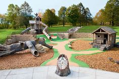 45 DIY Playground Project Ideas for Backyard Landscaping Preschool Playground, Natural Playground, Playground Design, Backyard Playground, Playground Ideas, Park Playground, Outdoor Play Spaces, Kids Outdoor Play, Backyard For Kids