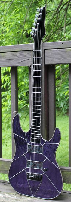 Purple Stained Glass Electric Guitar made by Raven - one for Reid? Stained Glass Projects, Stained Glass Patterns, Stained Glass Art, Mosaic Glass, Fused Glass, Rock N Roll, Rick E, Guitar Photos, Custom Guitars