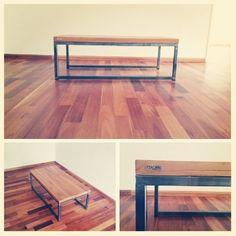 Mesa ratona 120x60cm - hierro y madera