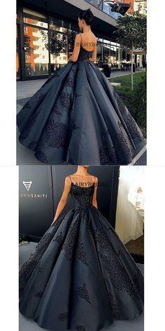 Vintage Party Dresses, Spaghetti Straps Prom Dress, Satin Prom Dress, Backless Prom Dress, Sexy Neckline Prom Dress #promdress #dairybridal