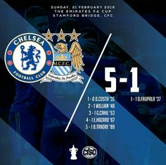 21 February 2016: Chelsea 5-1 Manchester City (FA Cup)