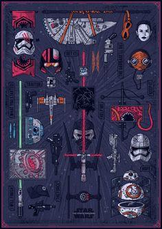 Star Wars VII: The Force Awakens Poster - Santiago Usano