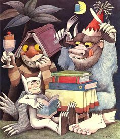 "Illustration of Maurice Sendak ""Reading is fun!"" on the occasion of the International Year of the Child 1979"