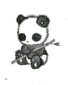 Cute/Sweet Animals Panda. [Drawing]