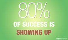 free exercise pictures and quotes | 80 Percent of Success is Showing Up - Fitness Quotes