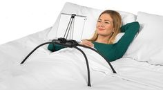 A tablet stand that'll conquer the most uneven and messiest of blanket situations.