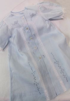 """Ms. Dot's """"Blue Butterflys"""" Baby Layette using Old Fashioned Baby's - Baby's Layette pattern"""