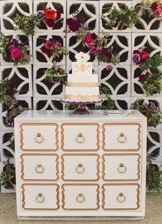 Hotel Lautner wedding - Jessica Claire Photography - Over the Rainbow wedding cake