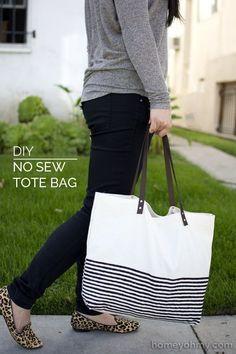Usando pontos adesivos e um kit rebite, você pode criar esta sacola de pano superfofa. | 41 reformas de roupas incrivelmente fáceis e sem costura que você pode fazer em casa