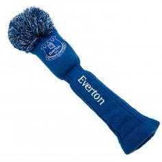 Everton golf club cover for a driver, complete with pompom on top. In club colours and featuring the club crest. FREE DELIVERY on all of our gifts