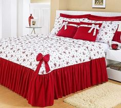 Laurette Floral Ruffled Flounce Grande Bedspread from J Queen New YorkThis Pin was discovered by LuiIdeas for bedroom romantic diy rugsHow to Make Cushion Covers Christmas Bedroom, Bed Cover Design, Bed Decor, Bedroom Design, Bed, Bedroom Decor, Bed Linens Luxury, Home Decor, Bedroom Colors
