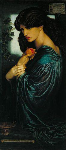 Dante Gabriel Rossetti - Proserpine - Google Art Project - Pre-Raphaelite Brotherhood - Wikipedia, the free encyclopedia