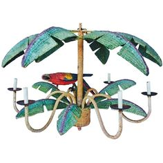 Mario Torres Wicker Parrot Chandelier, circa 1970 ($7,500) ❤ liked on Polyvore featuring home, lighting, ceiling lights, multi color lights, multi colored lamps, colorful chandelier, multi color chandelier and multi colored chandelier