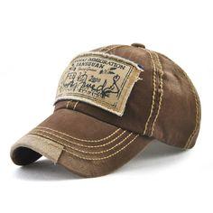 9f01bc4250a Men Women Washed Cotton Baseball Cap Casual Sport Patch Printing Snapback  Visor Hat Adjustable