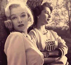 Ethereal beauty overload. Marilyn Monroe and Elizabeth Taylor - together.