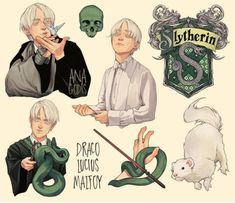 Harry Potter Anime, Slytherin Harry Potter, Harry Potter Drawings, Harry Potter Fan Art, Harry Potter Universal, Harry Potter Movies, Harry Potter World, Slytherin Pride, Slytherin Aesthetic