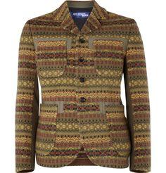 Junya Watanabe - Wool Blend Fair Isle Knit Jacket
