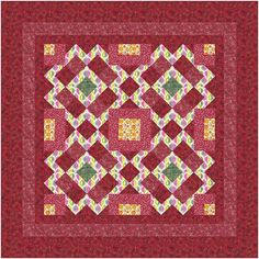 "Quilt Pattern - Outback - Throw - 60"" x 60"" - Beginner Capable - Instructions so easy it is like connect the dots"