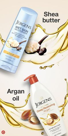 New at Target – Jergens Oil Infused Deep Restoring Argan & Jergens Wet Skin Moisturizer infused with shea oil. Discover the power of argan oil & shea butter, for soft & beautiful skin. Beauty Over 40, Beauty 101, Beauty Hacks, Argan Oil And Shea Butter, Essential Oils For Massage, Skin Mask, Diy Skin Care, All Things Beauty