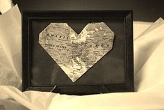 great for a going-away present for someone who is moving. Fold the map to put the two destinations side by side.
