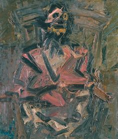 Frank Auerbach - J.Y.M. Seated No. 1, 1981, Oil paint on board, 711 x 610 mm | Tate