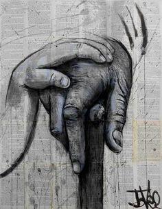 "Saatchi Art Artist Loui Jover; Drawing, ""young & old"" #art"