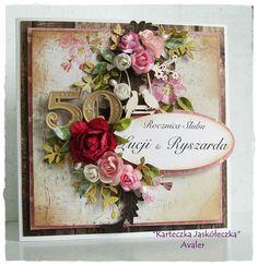 """""""Avaler"""" karteczka jaskoleczka, Card with flowers"""