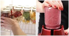 She Grabs A Mason Jar From The Freezer, Then Attaches It To A Blender For Yummy Smoothie via LittleThings.com