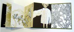 "Книга-аккордеон (книга-гармошка) ""Sweaters for Swans"" (свитера для лебедей). По мотивам сказки ""6 лебедей"" Братьев Гримм."