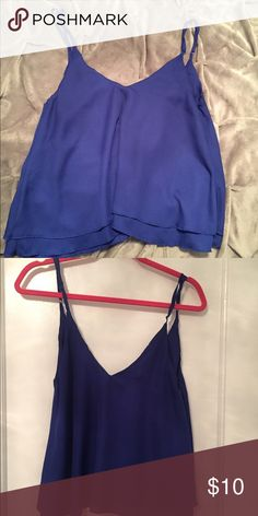 Blue tank Blue tank with adjustable straps.Hopefully this item can find a new fabulous home! Tobi Tops Tank Tops