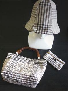 ワンピースからバッグと帽子、ポーチにリメイク♪ #remake #remadeonepiece #bag #hat #pouch #sewing #handmade #JAGUAR