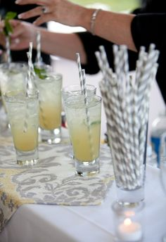 cocktails with fancy straws : )