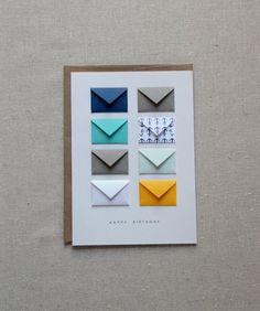 Joyeux anniversaire nautique - carte de minuscules enveloppes