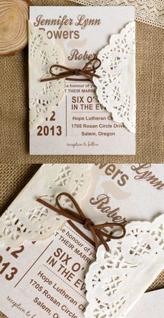 chic simple rustic wedding invitations with free rsvp cards and envelopes
