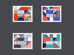 Rick Jordens - Dutch stamp design  https://dribbble.com/shots/3403268-Dutch-stamps-serie-02