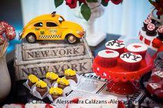 New York City Bridal Shower via Kara's Party Ideas KarasPartyIdeas.com #iloveny #iheartny #newyorkcity Cake, decor, invitation, supplies, and more! (13)
