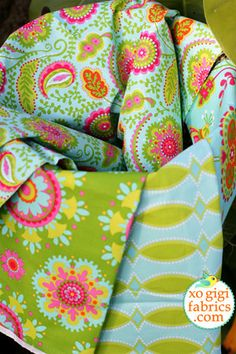 Garden Party Fabric BUNDLE by Pillow and Maxfield for Michael Miller Fabrics. $37.00, via Etsy.