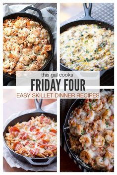 Friday Four 2: Easy Skillet Dinner Recipes | This Gal Cooks