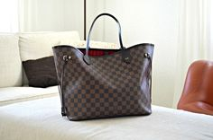 Mojo with the two newest additions: Louis Vuitton Monogram Canvas & Damier Azur Neverfulls both in GM size.