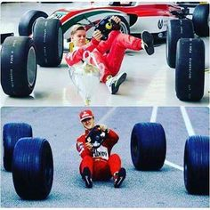 Like father like son Mick Schumacher, Michael Schumacher, Ferrari F1, F1 Drivers, Keep Fighting, Formula One, Grand Prix, Race Cars, Racing