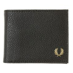 Fred Perry Black Scotch Grain Billfold at Soletrader