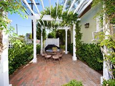 North Park house rental - Pergola dining patio with barbeque...