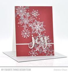 Debbie Olson | MFT Snowflake Splendor Card Kit: Available NOW | joy