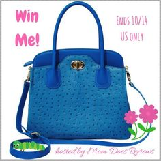 KC Beautiful Day Blue Handbag GIVEAWAY Do you love handbags? How about one this cute? I just love the color, it just makes me want to smile! But YOU hav