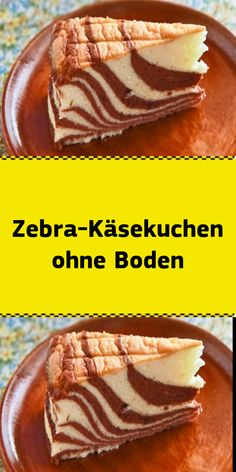 Zebra cheesecake without a bottom- Zebra-Käsekuchen ohne Boden Working time: approx. Snack Recipes, Cooking Recipes, Dessert Blog, Party Snacks, Healthy Desserts, Bakery, Cheesecake, Brunch, Food And Drink